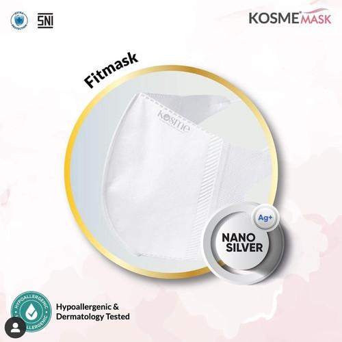 Foto Produk MS Glow - 1 Box Masker Kosme Mask Fitmask Nano Silver Masker Kesehatan - Putih dari MS Glow By Intan