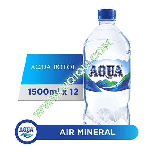 Foto Produk Aqua Botol 1500 ml 1 Dus (12 Botol) dari Toko Uqiqu