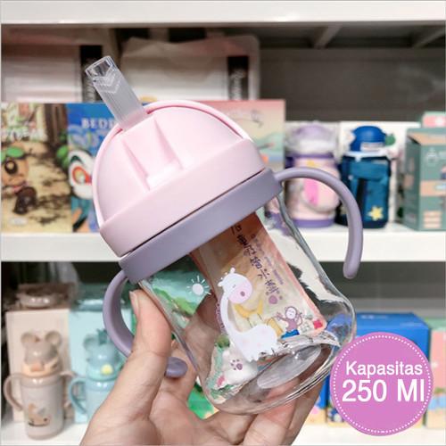 Foto Produk Botol Minum Bayi Gelas Anak Balita 270ML Training Cup Baby BPA Free - Merah Muda dari SUNXIN