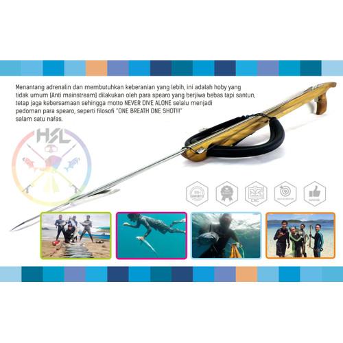 Foto Produk Speargun / Panah Ikan 80cm dengan 2 set rubber dari Speargun Panah Ikan