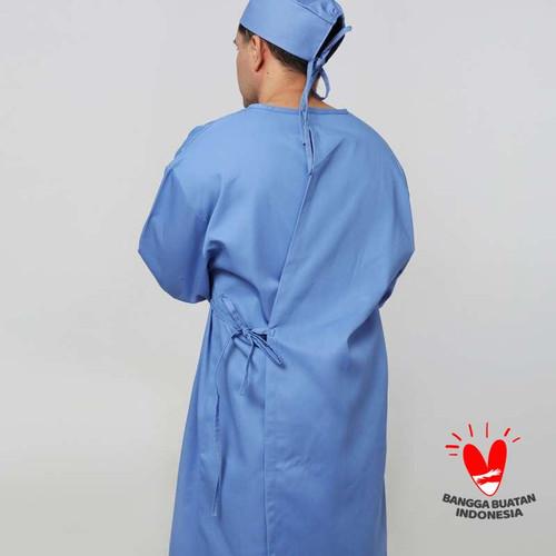 Foto Produk Baju medis APD Gown APD Long Gown Bahan Drill - Surgical Gown - Biru Muda dari RPSC