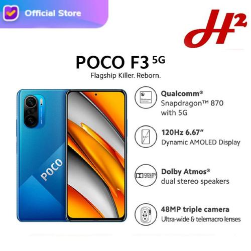 Foto Produk Xiamoi POCO F3 5G 6/128 - RAM 6GB / ROM 128GB - Garansi Resmi - D.Ocean Blue dari H2 Cellular