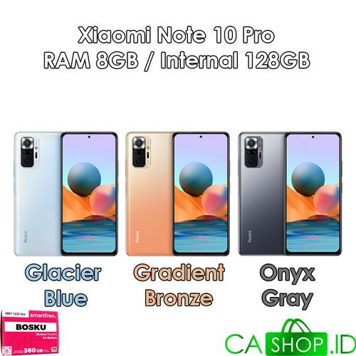 Foto Produk Xiaomi Redmi Note 10 Pro -8GB 128GB (8/128)-New Original Garansi Resmi - Glacier Blue dari CA Shop