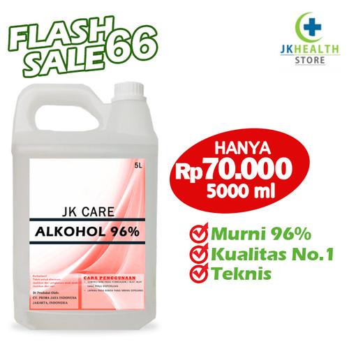 Foto Produk ALKOHOL 96% 5 LITER JKCARE - Antiseptic dan DIsinfectant dari JKHealthStore