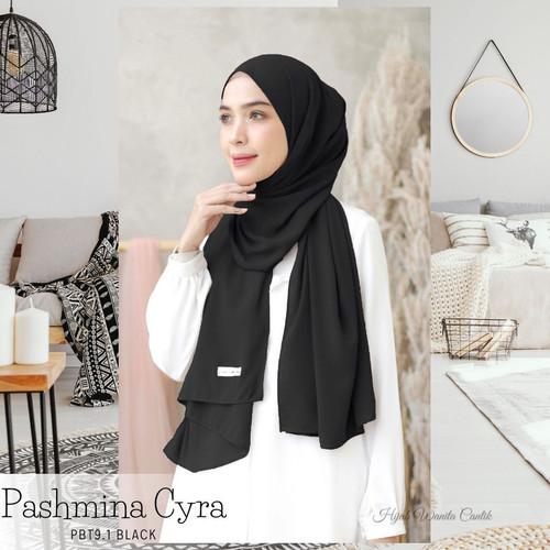 Foto Produk Hijabwanitacantik - Pashmina Cyra   Pashmina   Hijab   Warna - Black dari Hijab Wanita Cantik