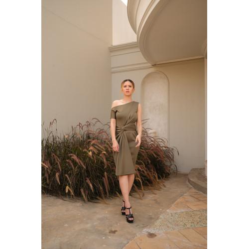 Foto Produk Joan Dress Kitri Green - S dari At Vezzo