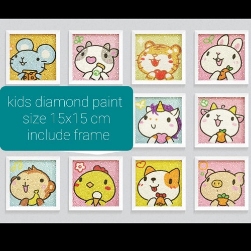 Foto Produk DIY DIAMOND PAINTING KIDS CRAFT ACTIVITY DIAMOND SHIO RAT - random, canvas only dari Eterniabutik