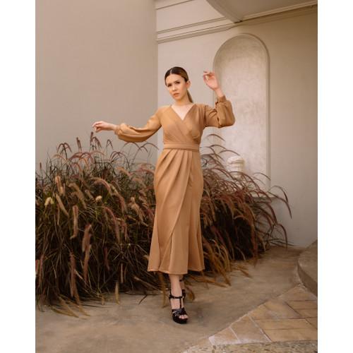Foto Produk Lila Wrap Dress - Doct Brown - S dari At Vezzo