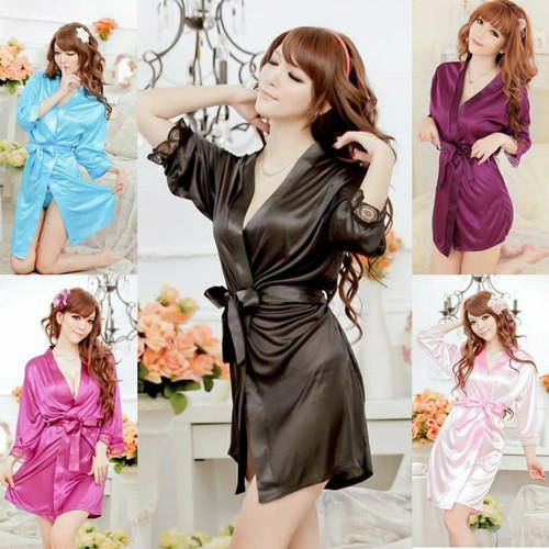 Foto Produk Baju tidur Sexy Kimono Set lace bahan satin Import dari StarSungallery