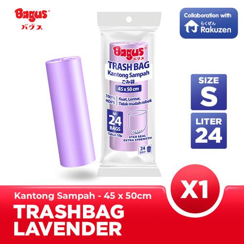 Foto Produk Kantong Sampah Bagus Trash Bag Roll 45 x 50 cm 24's 24 L - Lavender dari Bagus Official Store