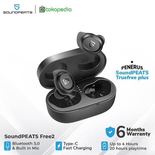 Foto Produk SoundPEATS TrueFree 2 True Wireless Earbuds - Black dari SOUNDPEATS OFFICIAL