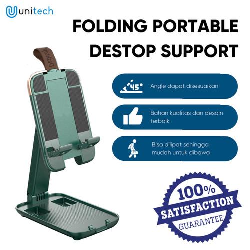 Foto Produk Holder Stand Hp Universal K7 Tempat Holder Lipat Ajustable Foldable - - Hijau dari TokoUsbcom