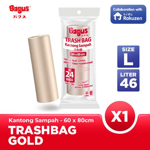 Foto Produk Kantong Sampah Bagus Trash Bag Roll 60 x 80 cm 24's - 46 L - Gold dari Bagus Official Store