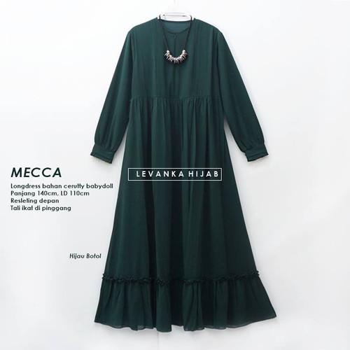 Foto Produk Lila Dress - Gamis Polos Bahan Cerutty Babydoll - MECCA - Bottle dari LEVANKA