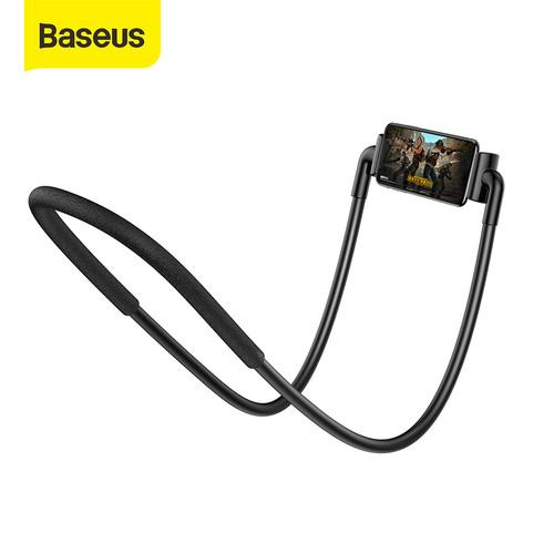 Foto Produk BASEUS LAZYPOD LEHER DAN PINGGANG LAZY NECK PHONE HOLDER CELL STAND - Hitam dari Baseus Official Store