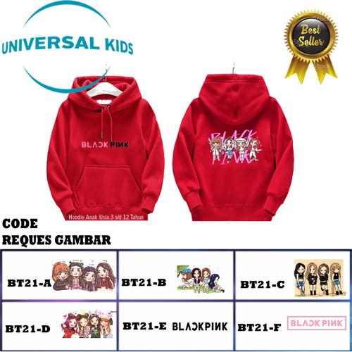 Foto Produk jaket backpink anak sweater blackpink anak hoodie black pink anak - Putih, S dari lexs kidsshop