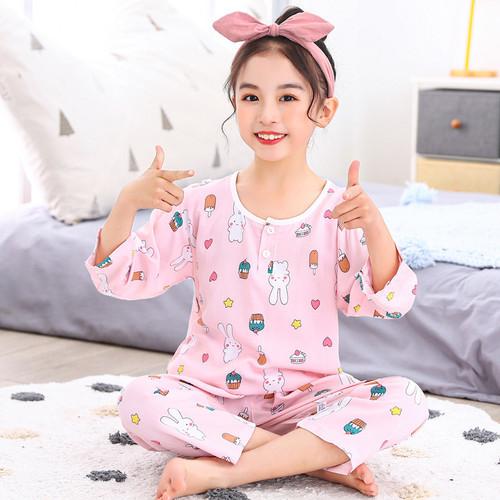 Foto Produk Setelan Baju Tidur Anak Import / Piyama Anak Import - Rabbit, 100 dari Baby33Shop