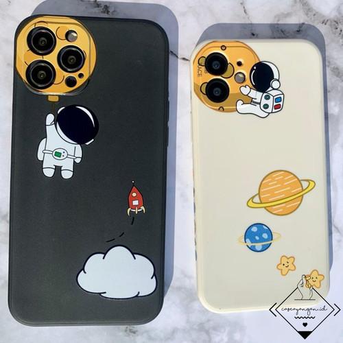 Foto Produk Astronaut Sided print Case Iphone 11 12 PRO MAX MINI Casing Cute Lucu - black, 11 PRO MAX dari Caseayangan ID