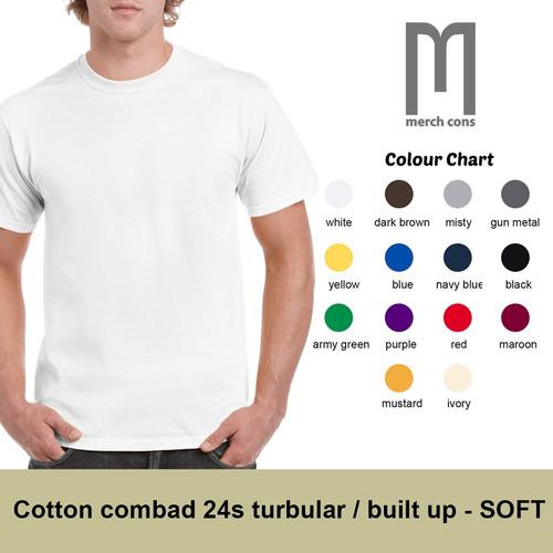 Foto Produk Kaos polos cotton combad 24s tanpa jahitan samping merk merchons - S, Putih dari Miseko Jaya Abadi