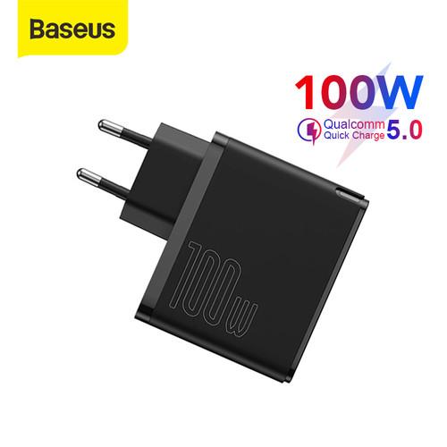 Foto Produk KEPALA CHARGER BASEUS GAN2 PRO 100W QC5.0 FAST CHARGER PD TYPE C - Hitam dari Baseus Official Store