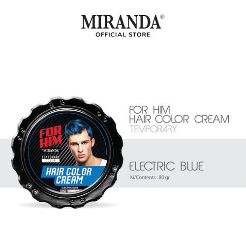 Foto Produk For Him Hair Color Cream (Pomade Warna) 80gr - Electric Blue dari Miranda Official