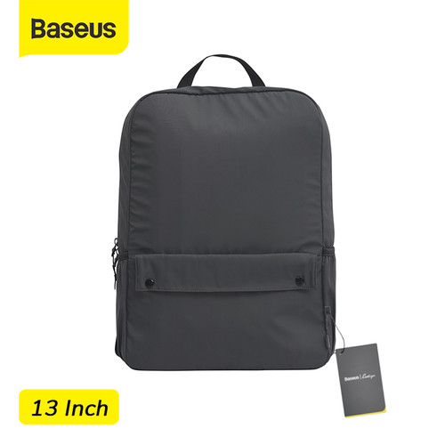 Foto Produk BASEUS BASIC SERIES LAPTOP BAG TAS LAPTOP MACBOOK NOTEBOOK TAS RANSEL - Abu 13inch dari Baseus Official Store
