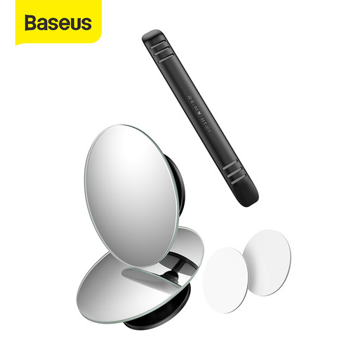 Foto Produk BASEUS KACA SPION KECIL MINI CEMBUNG WIDE ANGLE BLIND SPOT CAR MIRRORS - Hitam dari Baseus Official Store