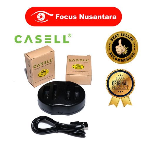 Foto Produk CASELL Battery Pack Nb-13L (2 Battery + 1 USB Dual Charger) dari Focus Nusantara