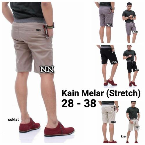 Foto Produk Celana Pendek Pria Celana Chino Pendek Pinggang Karet Celana Santai C1 dari Nani Batik Pekalongan