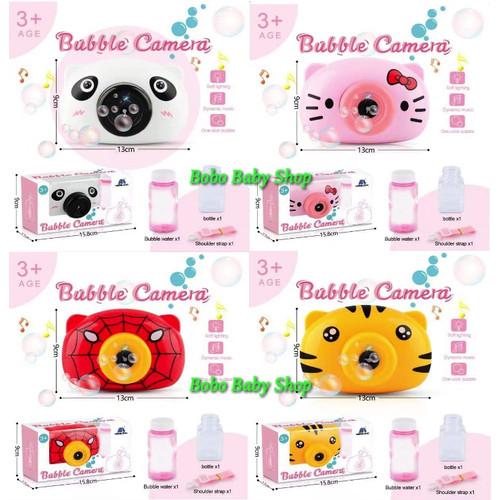 Foto Produk M170 Mainan Bubble Kamera |Gelembung Bubble Sabun Camera Lampu & Musik - Tiger ( macan ) dari bobo baby shop