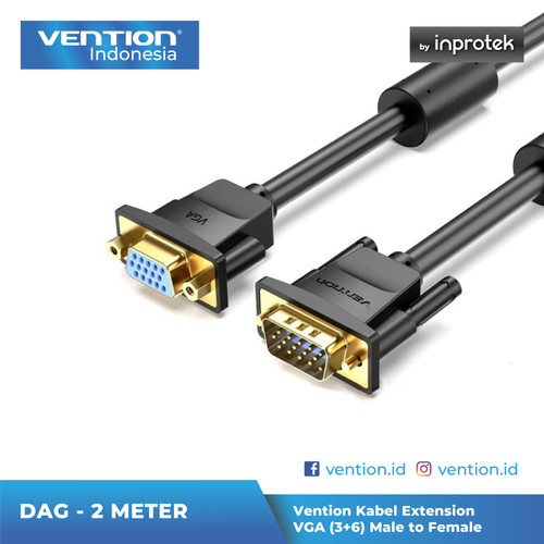 Foto Produk Vention 2M Kabel Extension VGA (3+6) Male to Female - DAG dari Vention Indonesia