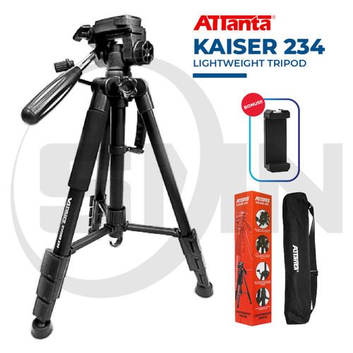 Foto Produk Tripod camera dslr attanta kaiser 234 + bag / tripod video - KAISER 234 dari SMN Official