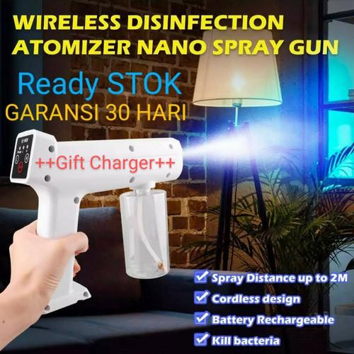 Foto Produk nano spray steam gun disinfektan portable wireless with UV light dari POFRE