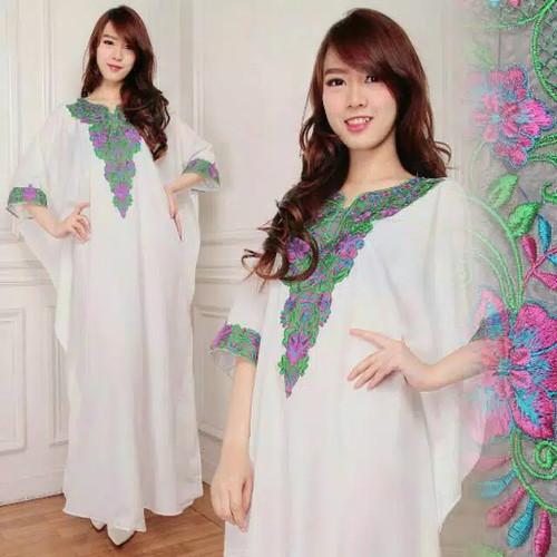 Foto Produk Yusita kaftan katun maxi dress long gamis busana muslim wanita dari Angelsammy shop