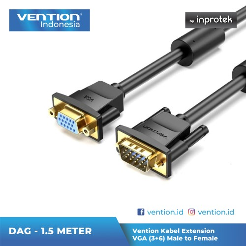 Foto Produk Vention 1M Kabel Extension VGA (3+6) Male to Female - DAG dari Vention Indonesia