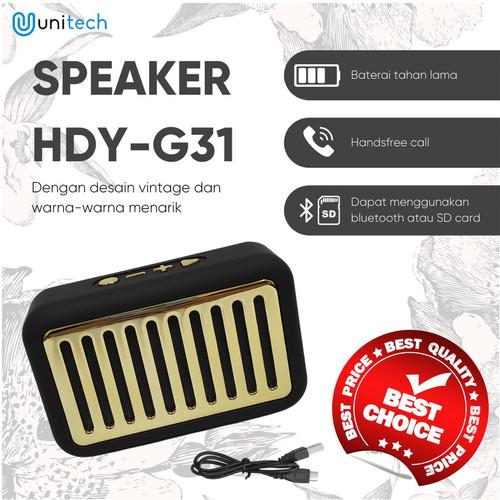 Foto Produk Speaker Bluetooth Extra Bass Vintage Desain HDY-G31 Support FM Radio - TOSCA dari TokoUsbcom