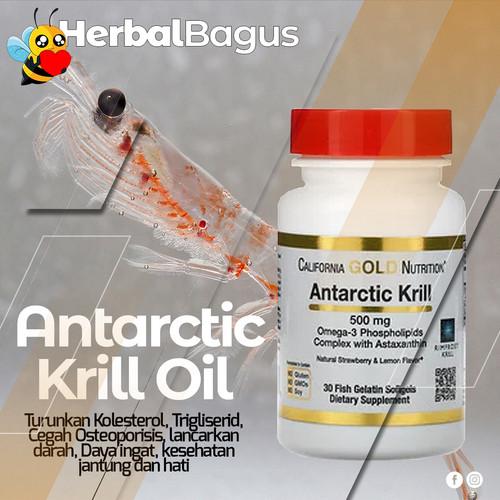 Foto Produk Omega-3 Antarctic Krill Oil + Astaxanthin + Rimfrost, Herbal Bagus dari herbalbaguscom