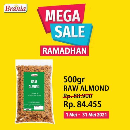 Foto Produk Kacang Almond Mentah USA Grade A 500gr dari Brania Almond