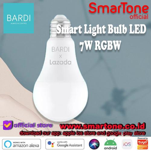 Foto Produk Bardi Smart Light Bulb LED 7W RGBW Wifi Wireless loT Home Automation dari SmartOne WDG Relx