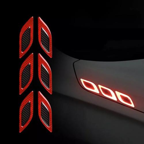Foto Produk LRT STICKER WARNING REFLECTOR 3D CARBON VARIASI MOBIL MOTOR 6 PCS - Merah dari Bro & Sis Jakarta