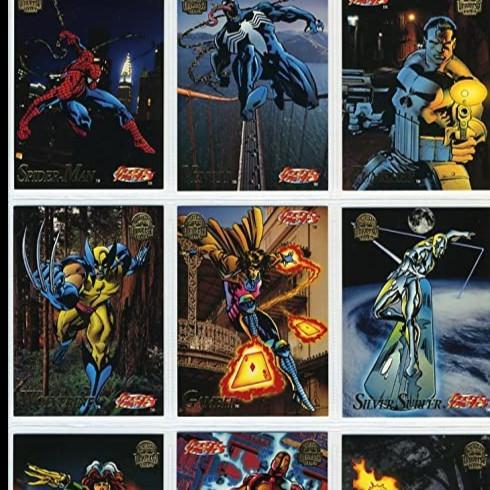 Foto Produk Marvel Universe 1994 Trading Cards Pack Complete 200 set kartu dari Charu Toys