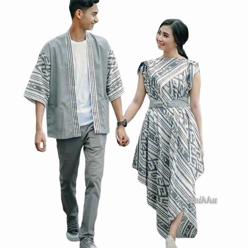 Foto Produk baju couple etnik kimono toraja putih - kimono pria, S dari vortiz etnik craft