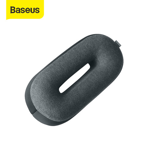 Foto Produk BASEUS BANTAL PINGGANG BANTAL LEHER BANTAL MOBIL BANTAL MEMORY FOAM - Hitam, HEADREST dari Baseus Official Store