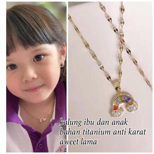 Foto Produk KALUNG TITANIUM / PRINCESS / CROWN / FLOWER COIN /DIAMOND RAINBOW - Rainbow Diamond dari QUEEN GROUP ID