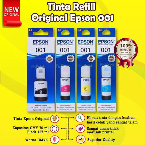 Foto Produk Epson Ink 001 Black Cyan Magenta Yellow Tinta Original L4150 L6170 - Hitam dari FixPrint Indonesia