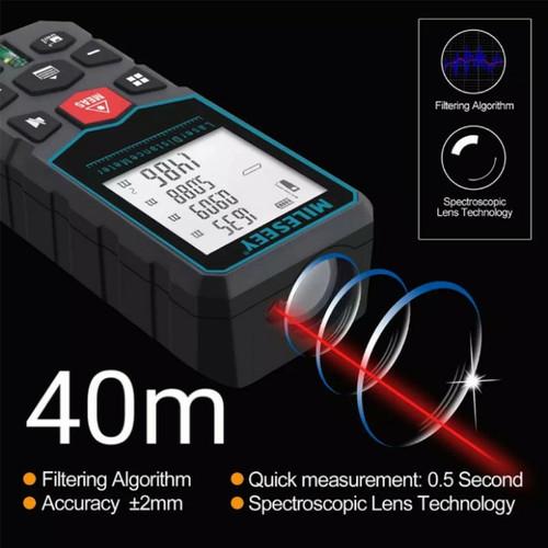 Foto Produk 100m Laser Distance Digital Meteran Pengukur Jarak Jauh Meter NO bosch - Mileseey 40m dari chi-chi store