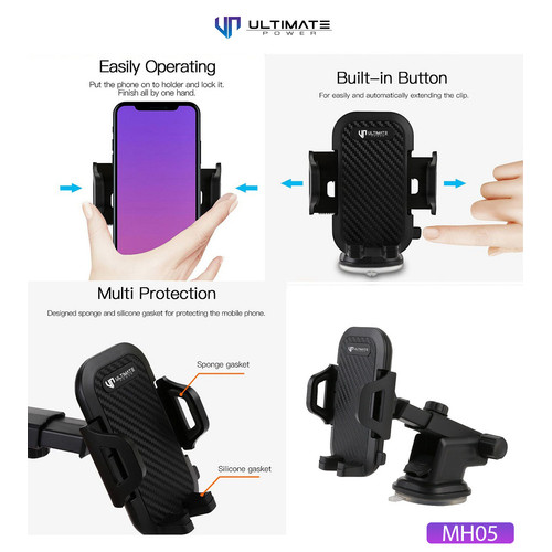 Foto Produk Ultimate Car Mount Holder for Dashboard & Windshield MH05 dari Ultimate Power Official