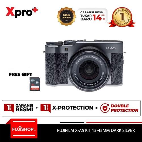 Foto Produk FUJIFILM X-A5 XA5 kit Lens XC 15-45mm - Dark Silver + SD 16gb - Reguler, Dark Silver dari FUJISHOPid