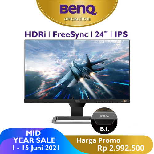 Foto Produk Monitor 24 inch BenQ EW2480 IPS HDR 75Hz LED Freesync B.I.+ Eye Care dari BenQ Official Store