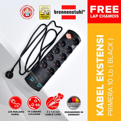 Foto Produk Brennenstuhl Stop Kontak Primera-Line Kabel Extension 10 Lubang 2M dari Kenmaster Official